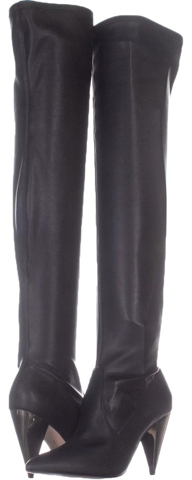 94ebd0e0cc1 BCBGeneration Black Angela Pointed Toe Over The Knee 283 Leathe Boots  Booties