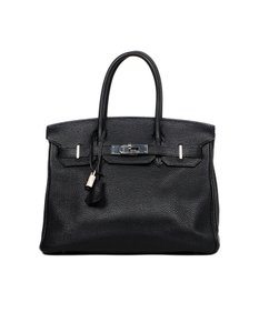Hermès Birkin Classic Palladium Satchel in Black