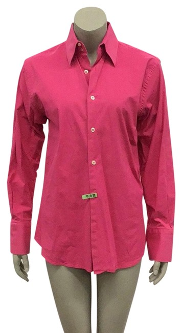 Preload https://img-static.tradesy.com/item/24988742/roar-pink-heavy-stretch-cotton-shirt-in-hot-button-down-top-size-8-m-0-3-650-650.jpg