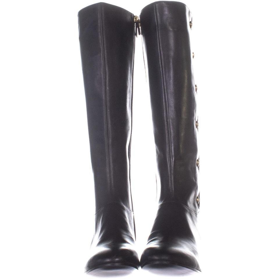 5cafc4feb51 Nine West Black Oreyan Knee High Riding 348 Leather Boots/Booties Size US  10.5 Regular (M, B) 59% off retail