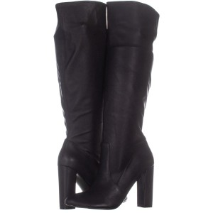76a5538a6cc Steve Madden Black Boots · Steve Madden. Black Eton Tall Block-heel 586 Leather  Boots Booties