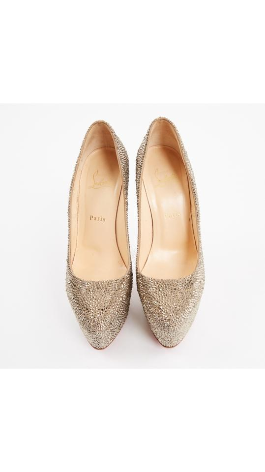 45ebff61d Christian Louboutin Gold Daffodile Crystal Pumps Size US 9 Regular ...