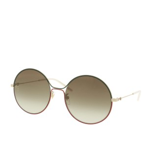 cac142d06ee Gucci Red Green New Gg0395 S Round Metal Sunglasses - Tradesy