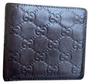 ac3d324711d5 Gucci GUCCI GUCCISSIMA Men's Dark Chocolate Leather Bifold COIN POUCH Wallet