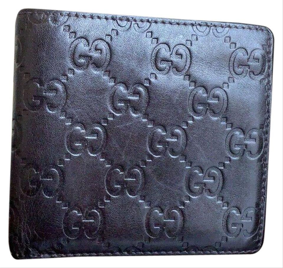 ab704ec79f4 Gucci GUCCI GUCCISSIMA Men s Dark Chocolate Leather Bifold COIN POUCH Wallet  Image 0 ...