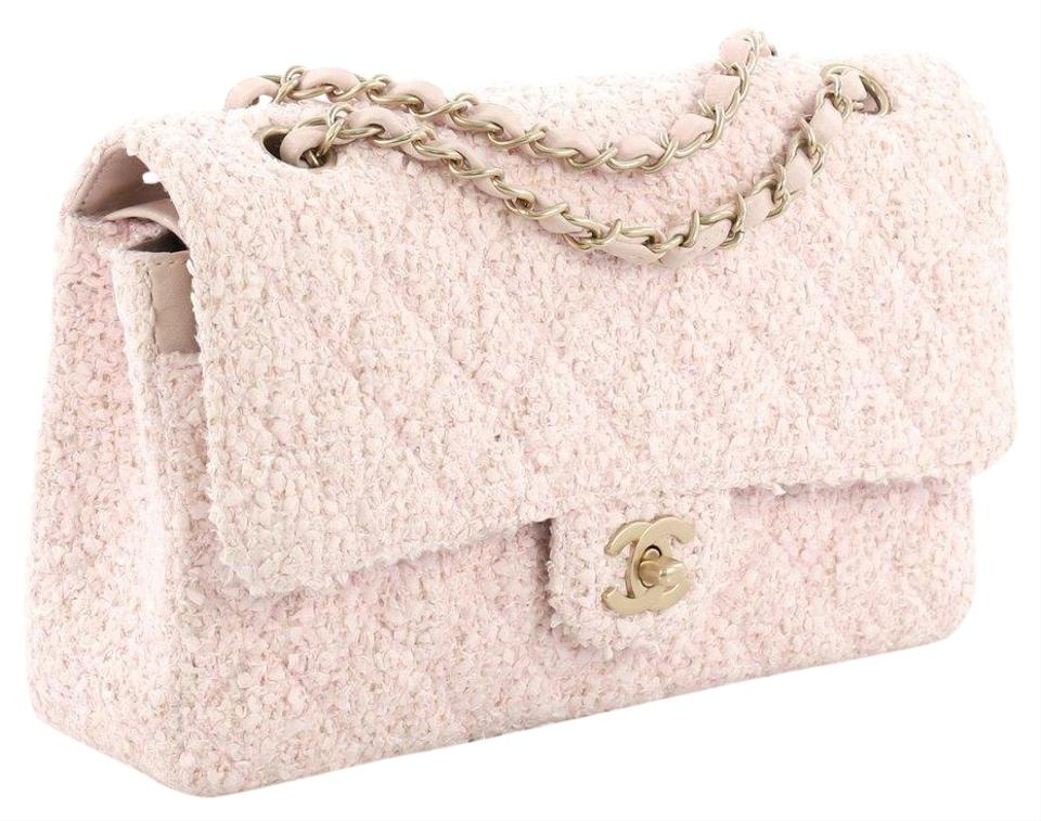a429693043d9 Chanel Classic Flap 2.55 Reissue Rare Limited Edition Classic Pink Beige  Boucle Tweed Wool Lambskin Leather Shoulder Bag