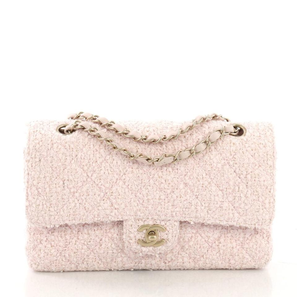 d201245d1afb Chanel Classic Flap 2.55 Reissue Rare Limited Edition Classic Pink Beige  Boucle Tweed Wool Lambskin Leather Shoulder Bag - Tradesy
