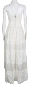 White Maxi Dress by Dolce&Gabbana Scalloped Lace Strapless