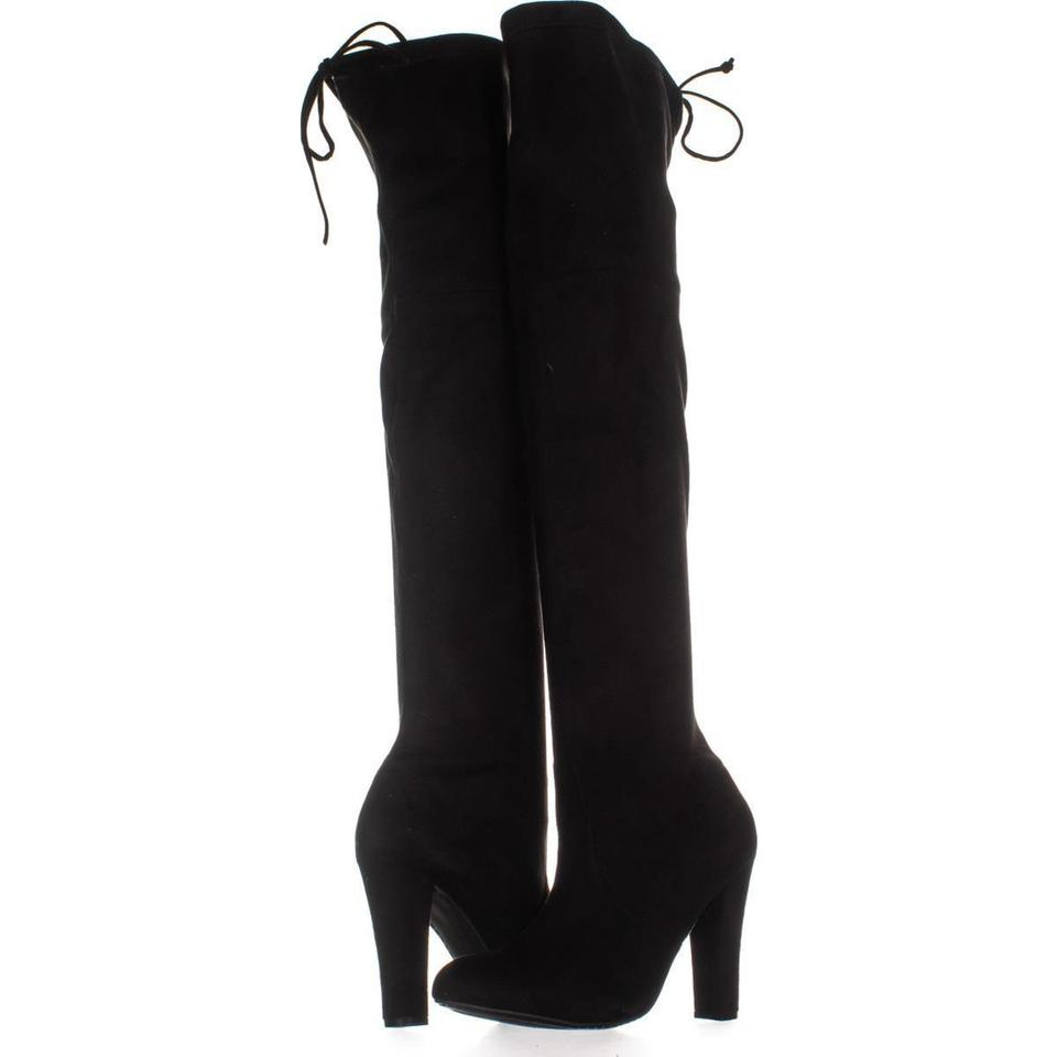 88138965b5d Steve Madden Black Over-the-knee Dress 947 Boots Booties Size US 9.5 ...