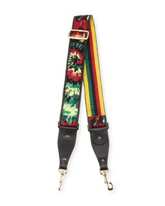 Valentino Rockstud Tie-Dye Embroidered Guitar Strap for Handbag