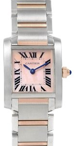 Cartier Cartier Tank Francaise Steel Rose Pink Gold MOP Ladies Watch W51027Q4