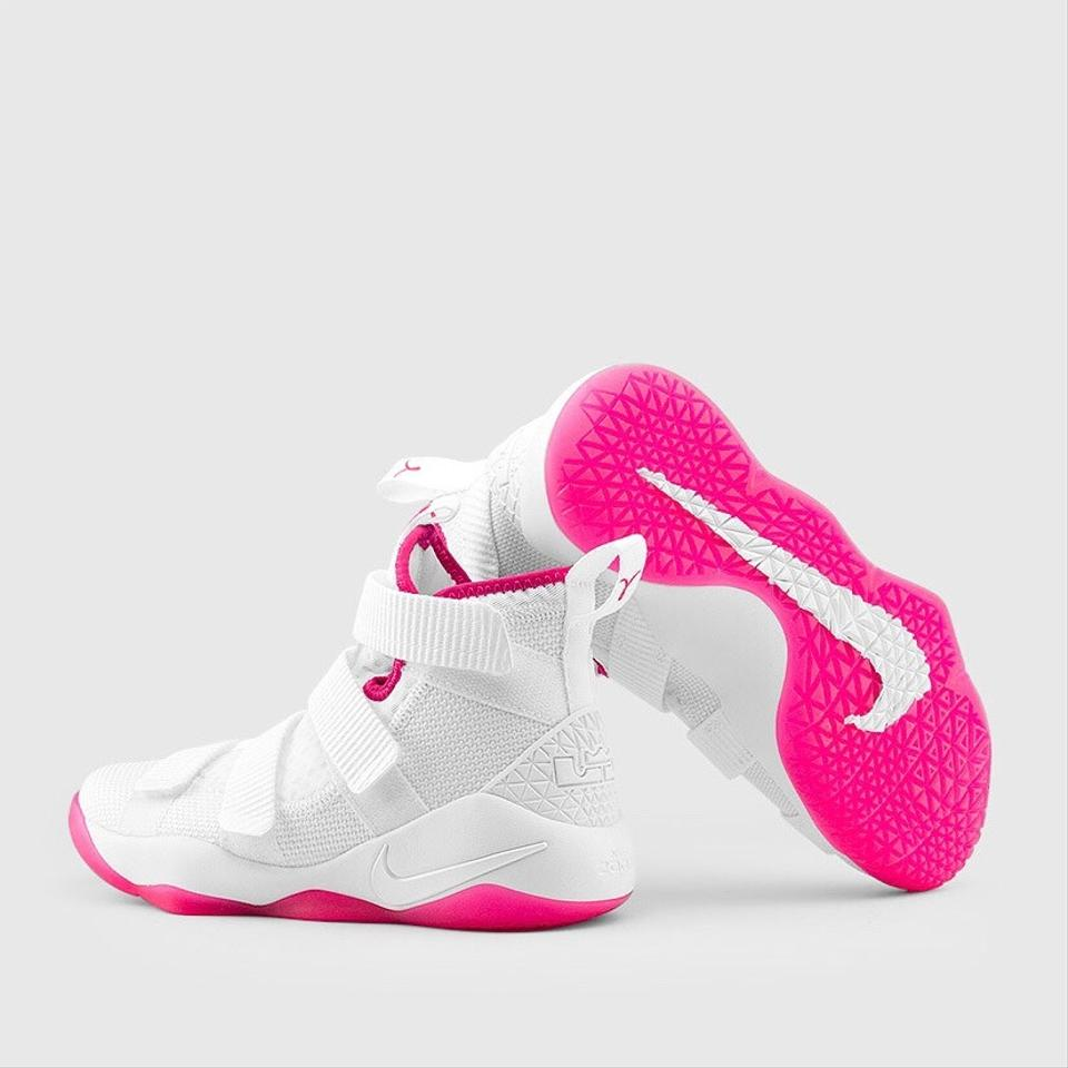 new concept 5fab9 0db3a Nike Pink/White New Zoom Lebron James' Soldier 11 Sneakers Size US 8  Regular (M, B)