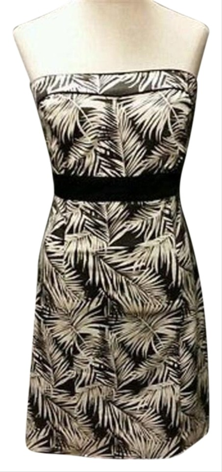bca193cc95e H M Tropical Leaves Black and White Tube Short Casual Dress. Size  4 ...