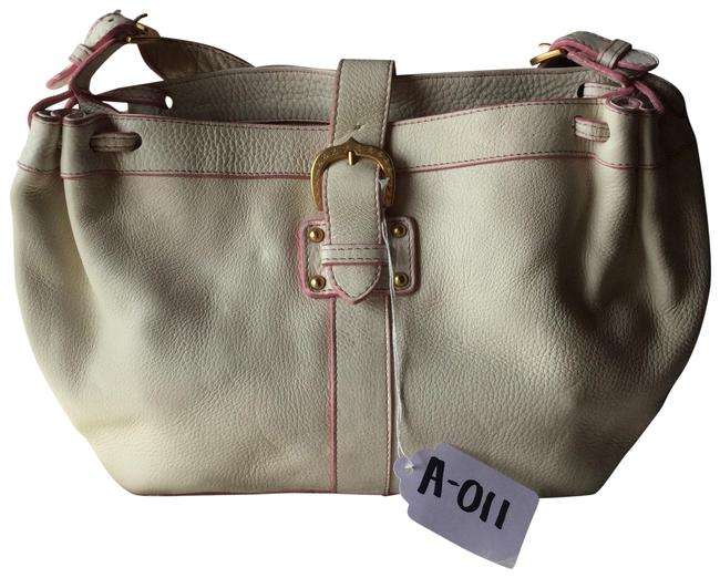 Item - Shoulder And White/Pink White Leather Hobo Bag