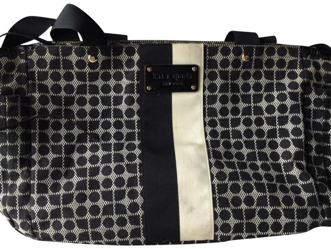 Item - Classic Noel Henry White/ Black Nylon Diaper Bag