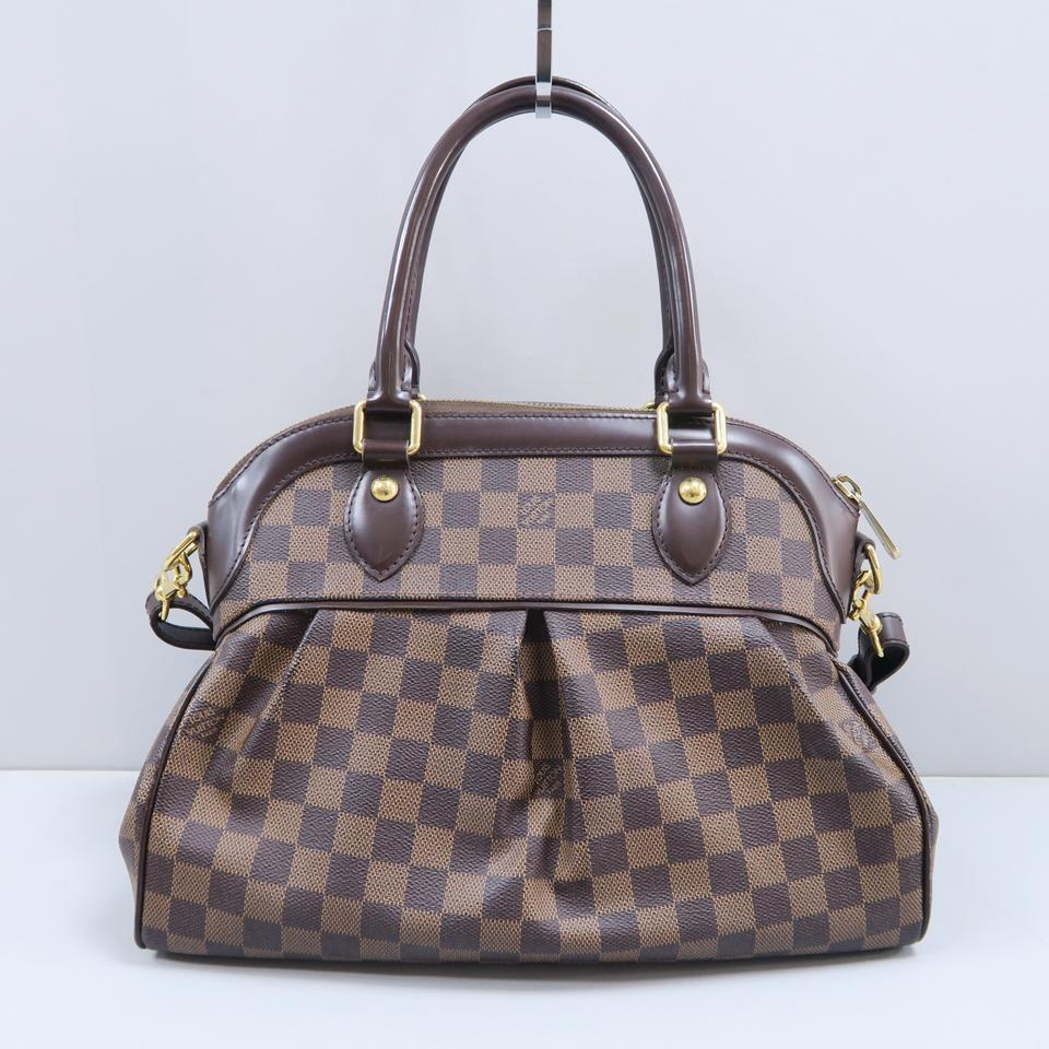 0371a276bee9 Louis Vuitton Trevi Ebene Canvas Satchel in Brown Image 11. 123456789101112