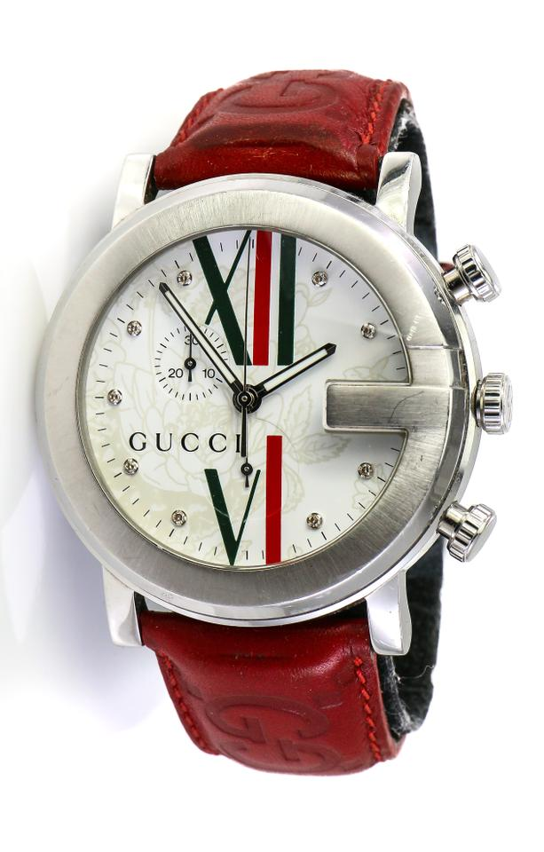 2f967f802c4 Gucci Stainless Steel Diamonds G Chrono 101m Watch - Tradesy
