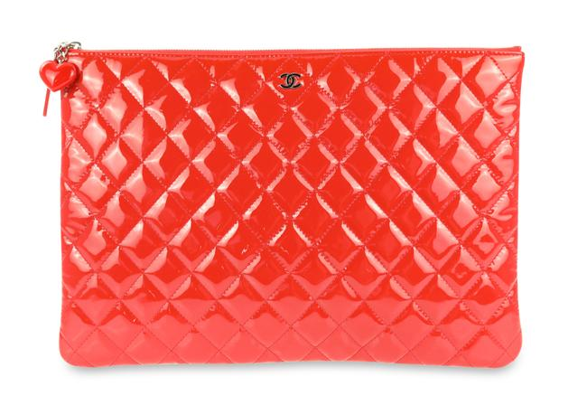 Item - Valentines O-case Red Patent Leather Clutch