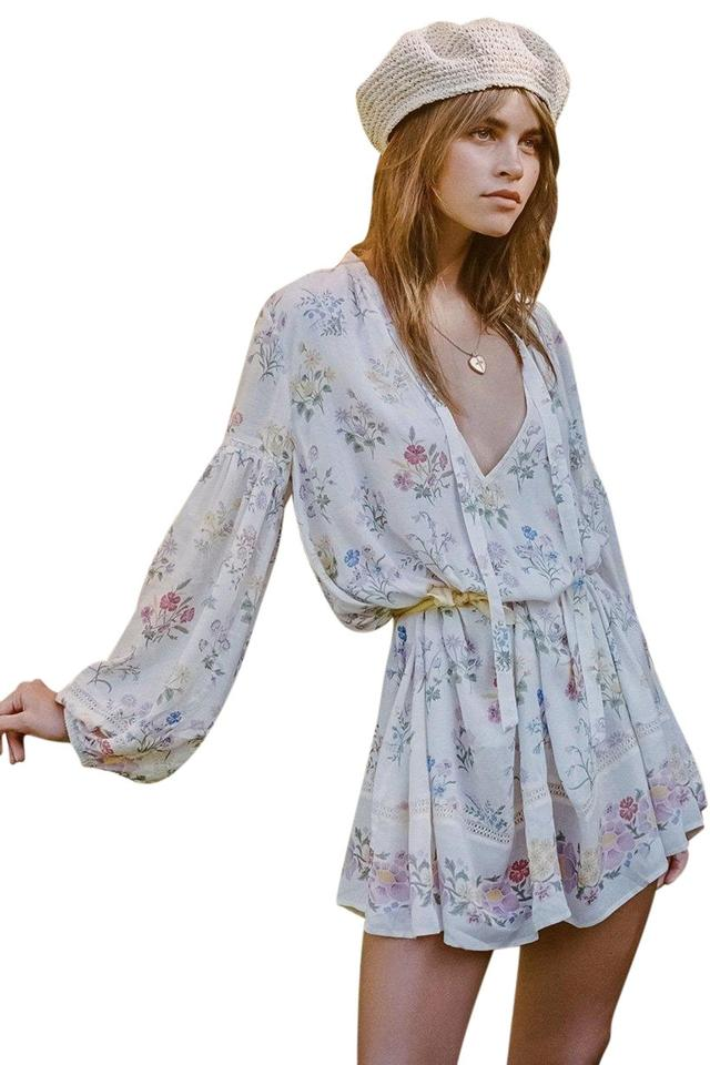 2958b13518 Spell   the Gypsy Collective short dress White Floral Boho Bohemian on  Tradesy Image 0 ...