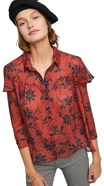 Item - Multicolor Autumn Floral By Erin + Ali S Button-down Top Size 6 (S)