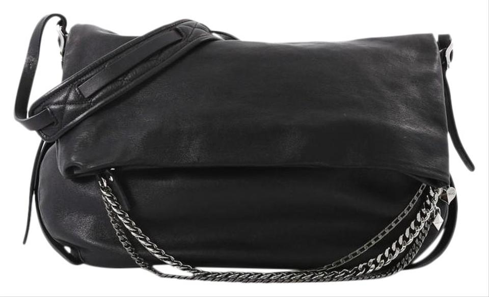 1c5116f457db Jimmy Choo Biker Large Black Leather Cross Body Bag - Tradesy