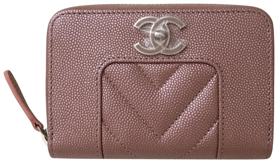 a0ece4f4de31 Chanel Rose Gold Zippy Coin Purse Wallet - Tradesy