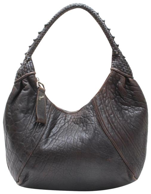 Item - Spy Style Purses Supple Brown Leather with Woven Leather Details Hobo Bag