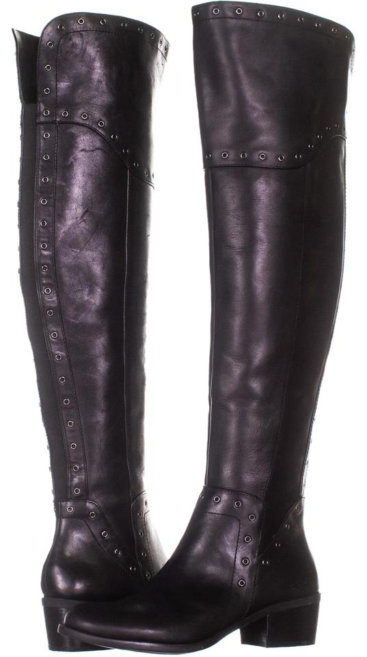 976ad16fecd Vince Camuto Black Bestan Studded Over The Knee 319 / 37 Boots/Booties Size  US 7 Regular (M, B) 59% off retail