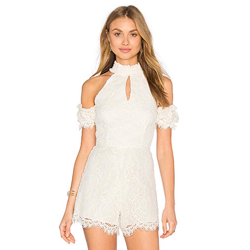 7e7842c97f8d Alexis Off White Adele Shoulder Lace Romper Jumpsuit - Tradesy