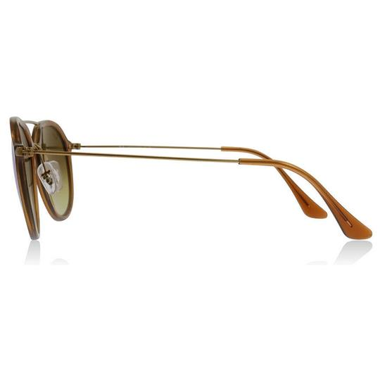 9aacf185adb Ray-Ban Shiny Brown Gold Frame   Blue Gradient Mirrored Lens Rb4253 ...