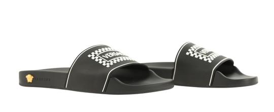 Versace Leather Rubber Black Sandals Image 1