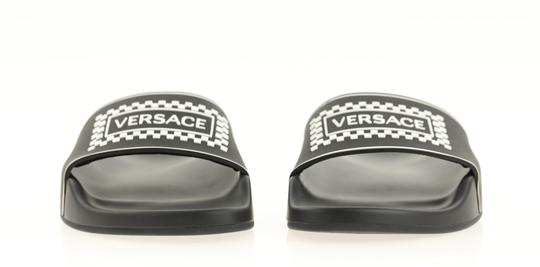 Versace Leather Rubber Black Sandals Image 4