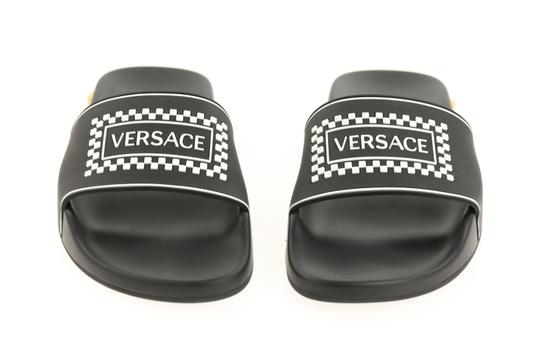 Versace Leather Rubber Black Sandals Image 5