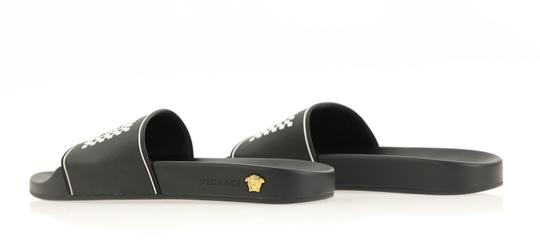 Versace Leather Rubber Black Sandals Image 6