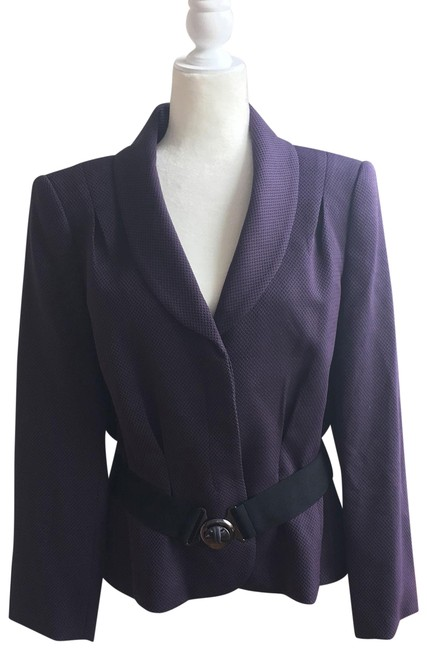 Item - Purple Belted Blazer Size 16 (XL, Plus 0x)