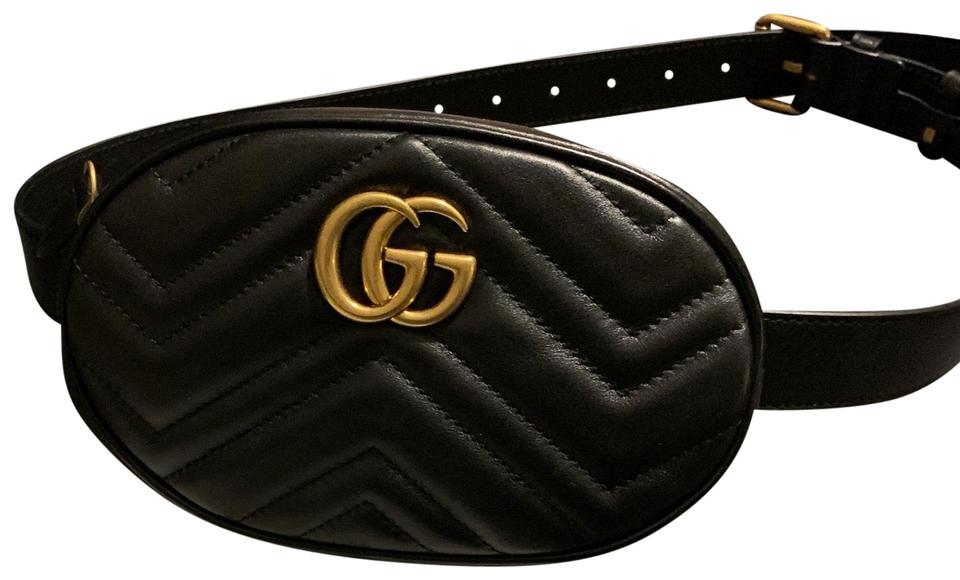 b2325186b Gucci Belt Marmont New Size 85 Dustbag Tag Care Booklet Black ...