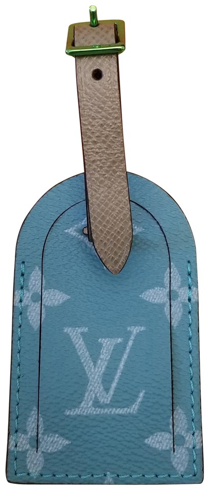 08e9338e54d6 Louis Vuitton Teal Monogram Kim Jones Luggage Tag Rare - Tradesy