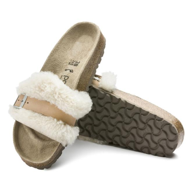 Item - Off White Shearling/Leather Sandals Size US 10 Narrow (Aa, N)