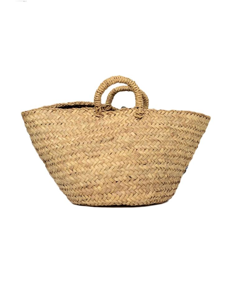 59fe76639c2b Dolce Gabbana Large Woven Straw Basket with Green   Blue Flower ...