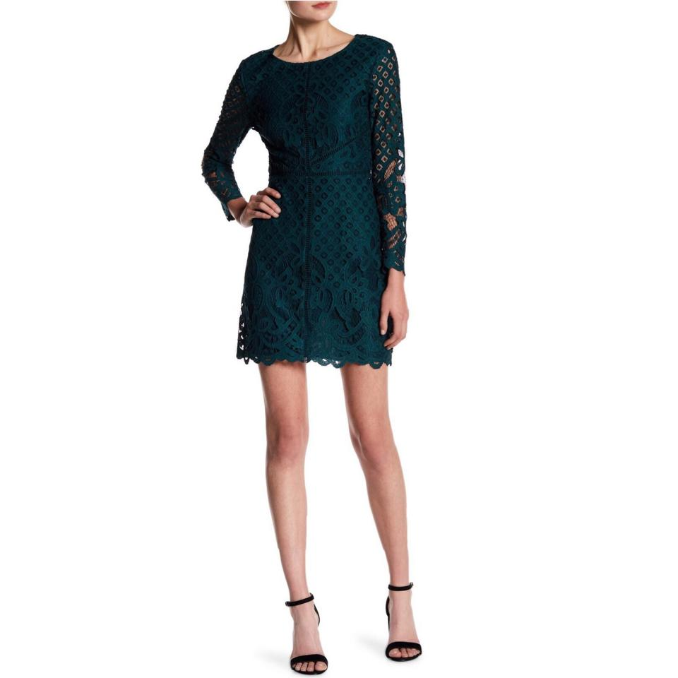 65a2a516bb2 cupcakes and cashmere N W T - Forest Green Spence Lace Cocktail Dress