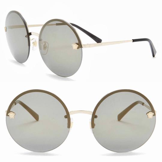 35acde3236a Versace Pale Gold Rimless Round Ve2176 1252 13 Sunglasses - Tradesy