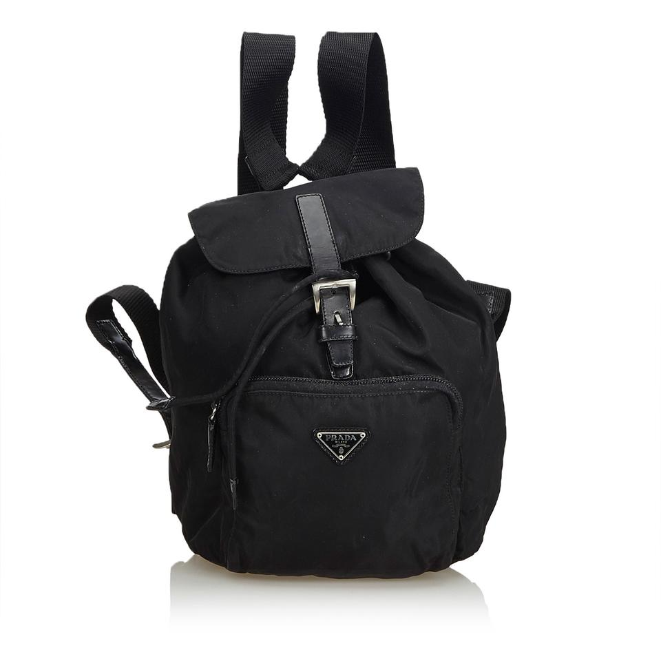 d504441be17d Prada Drawstring Black Nylon Backpack - Tradesy