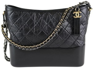 219f99eefae6 Chanel Gabrielle Embroidered Calfskin Medium Blue Wool and Leather ...