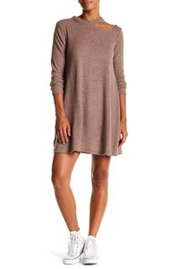 Cotton Emporium short dress Mocha Brown Sweater Nordstrom Crew Neck Ribbed on Tradesy