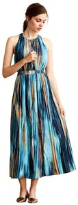 mixed blue Maxi Dress by Anthropologie