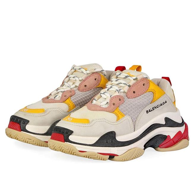 Item - Pink Yellow Triple Red and White Mesh Sneakers Size EU 36 (Approx. US 6) Regular (M, B)
