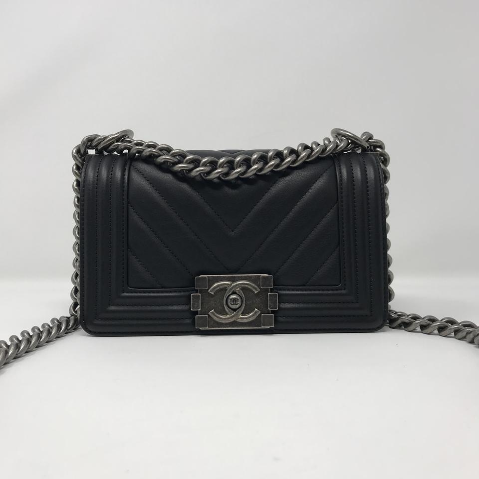 1a2516198ca5 Chanel Boy Le Small Black Leather Cross Body Bag - Tradesy