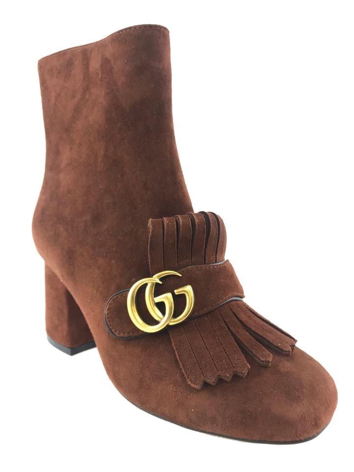 b8e9694e9 Gucci Brown Marmont Gg Suede Block-heel Ankle Boots/Booties. Size: EU ...