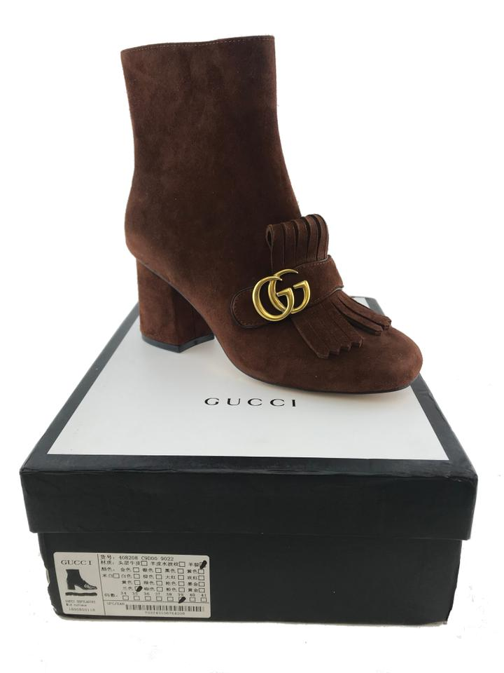 d463a424d Gucci Brown Marmont Gg Suede Block-heel Ankle Boots/Booties Size EU ...