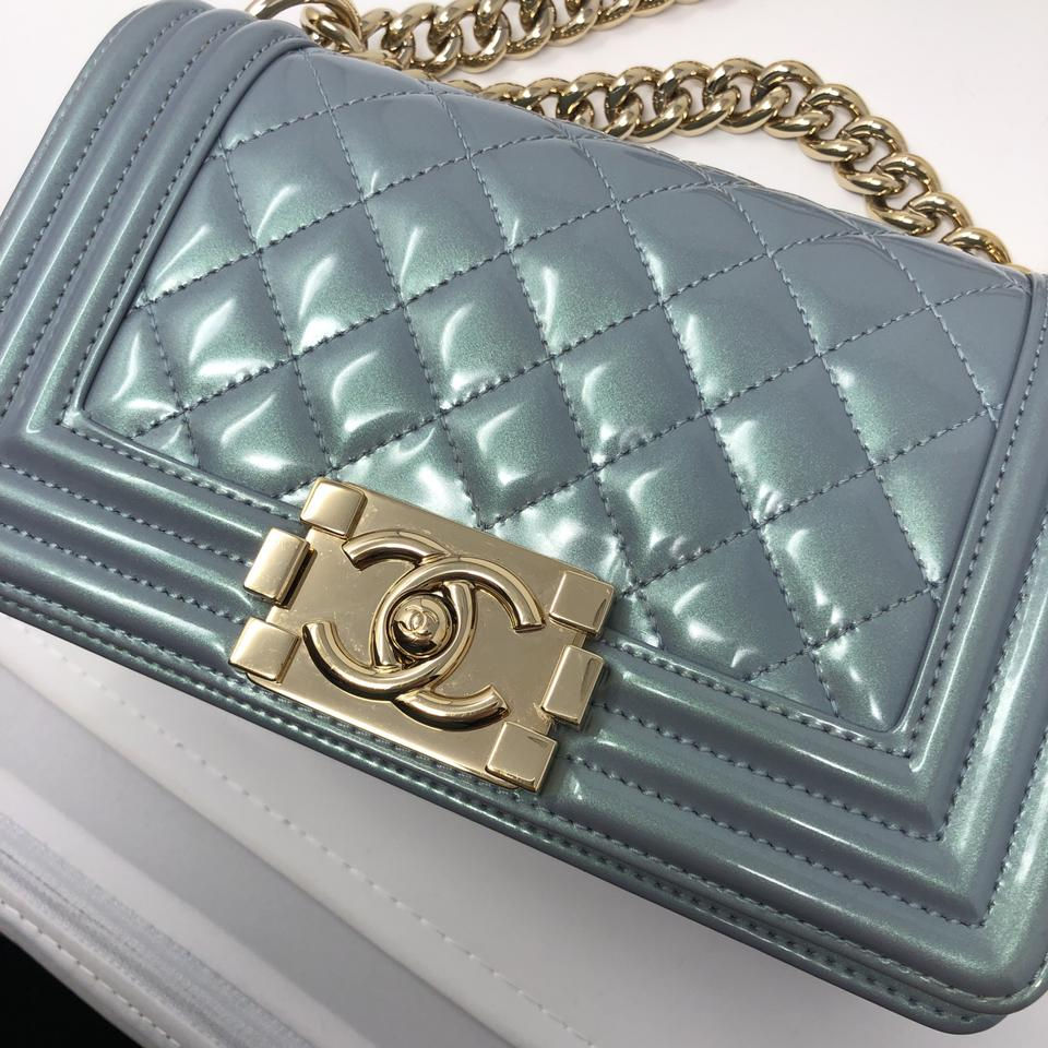 56f8d9c72e3f Chanel Small Boy Le Boy Small Boy Patent Gold Hardware Cross Body Bag Image  11. 123456789101112